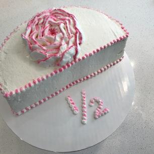 1/2 rose cake
