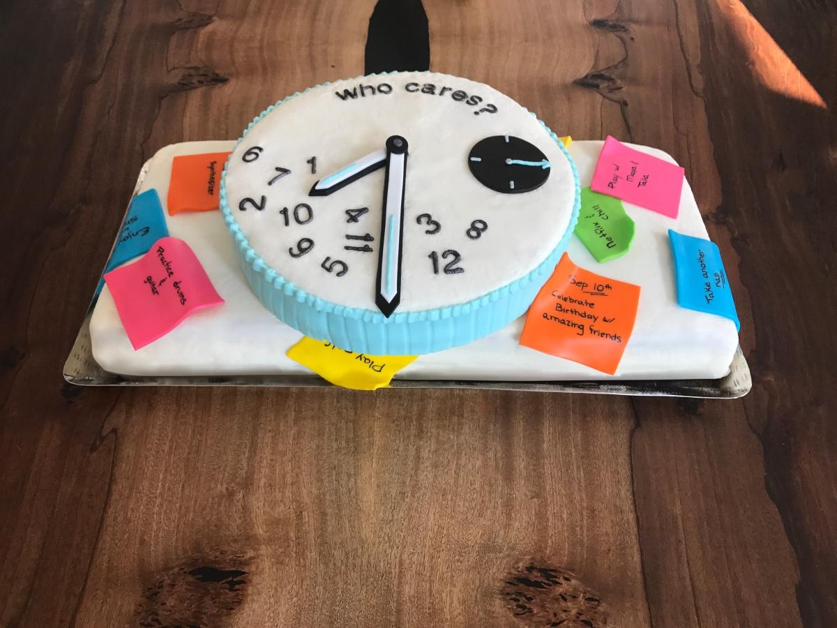 retirement cake postits