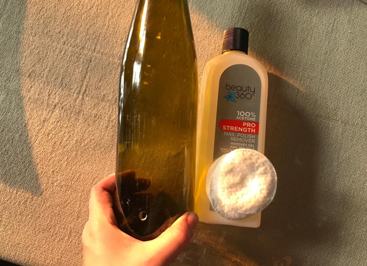 Acetone Bottle Labels
