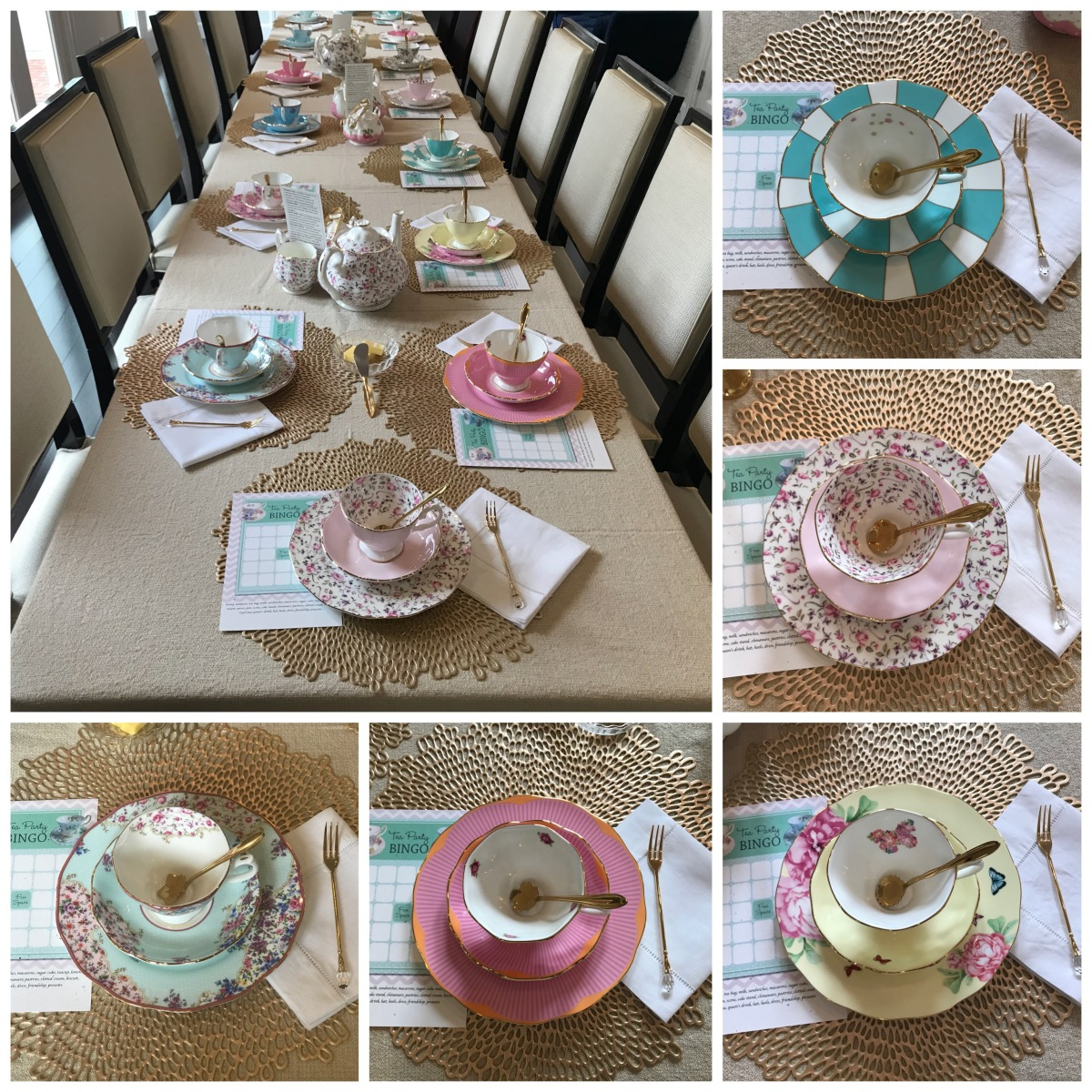 tea party table set up